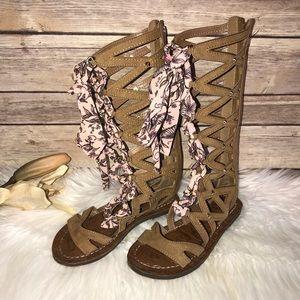 Girls Sam Edelman Strappy Tall Sandals